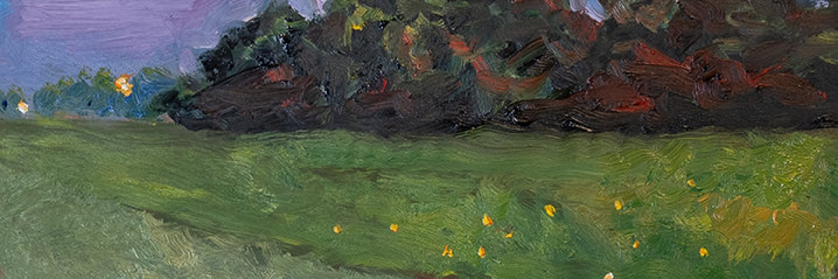 Field of Fireflies_6 x 6 in_oil on copper